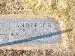 Alice Bernice <i>Carlson</i> Anderson