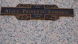 Alice <i>Privette</i> Edwards