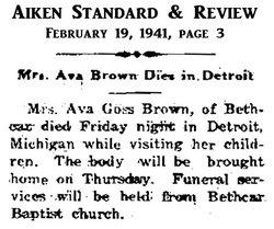 Ava <i>Goss</i> Brown