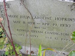 Mary Julia Caroline <i>Hopkins</i> Covington