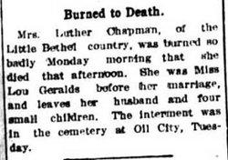Louisa Lou <i>Geralds</i> Chapman