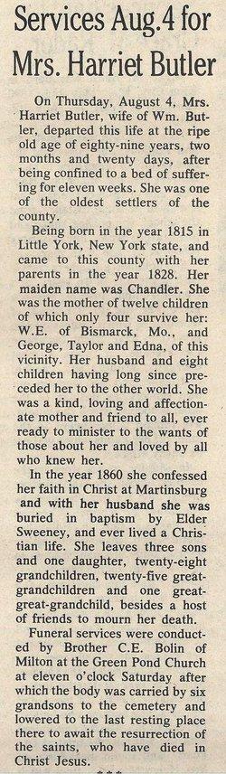 Harriet <i>Chandler</i> Butler