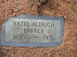 Hazel <i>Aldrich</i> Barker