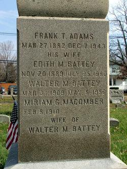 Edith M <i>Battey</i> Adams