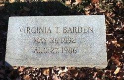 Virginia T Barden