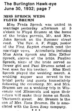 Freda <i>Sprock</i> Brumm