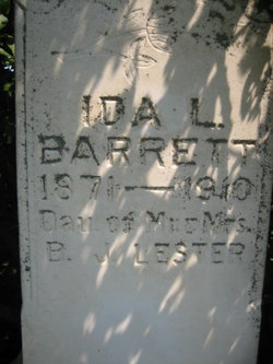 Ida L. <i>Lester</i> Barrett