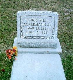 Christoph Wilhelm Chris Will Ackermann, Jr