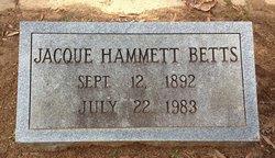 Jacque <i>Hammett</i> Betts