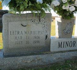 Letra Mazell <i>Warhurst</i> Minor