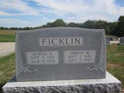 Ernest W Ficklin