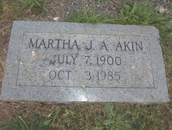 Martha Jane <i>Andrews</i> Akin