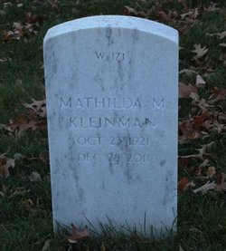 Mathilda Margaret <i>Klier</i> Kleinman