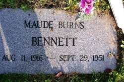 Maude Catherine Mae <i>Burns</i> Bennett