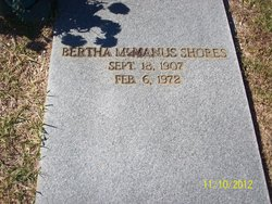 Bertha <i>McManus</i> Shores