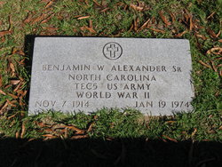 Benjamin W Alexander, Sr