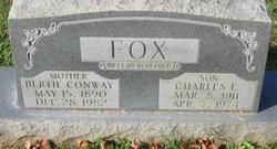 Bertie Burr <i>Conway</i> Fox