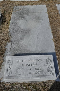 Susan Ann Sallie <i>Barwick</i> Mosley