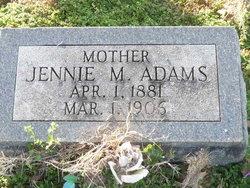 Jennie M <i>Mitchell</i> Adams
