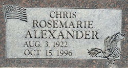 Rosemarie Gaye Chris <i>Gaston</i> Alexander