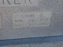 Sadie Ethel <i>Sizemore</i> Baker