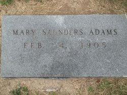 Mary <i>Saunders</i> Adams
