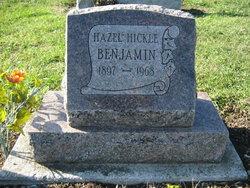 Hazel Mae <i>Hickle</i> Benjamin