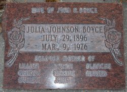 Julia Bernzena <i>Johnson</i> Boyce