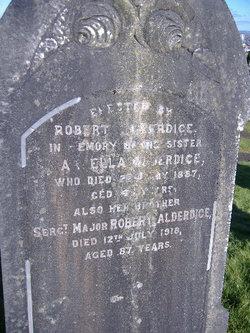 Sgt Maj Robert Alderdice