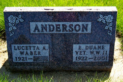 Lucetta A. <i>Waber</i> Anderson