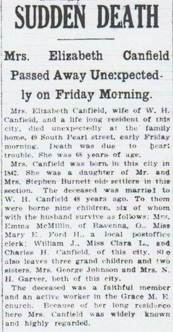 Elizabeth <i>Burnett</i> Canfield