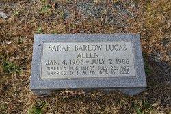 Sarah Lucas <i>Barlow</i> Allen