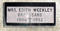 Edith <i>Weekley</i> Broussard