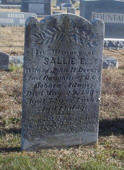 Sarah Elizabeth Sallie <i>Adams</i> Devore