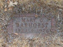 Mary G. <i>Weber</i> Barhorst