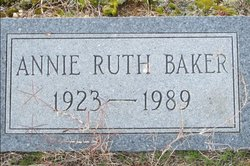 Annie Ruth <i>King</i> Baker