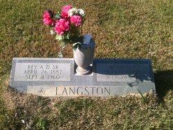Rev Arthur D. Langston, Sr