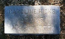 Caroline Carrie <i>Hicks</i> Adams