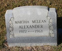 Martha <i>McLean</i> Alexander