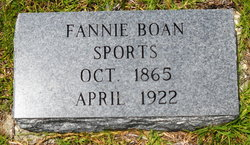Frances A Fannie <i>Boan</i> Sports