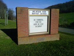 Mountain View Baptist Church Cemetery (#167)