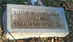 Elizabeth Moon Parry <i>Cadwallader</i> Baldwin