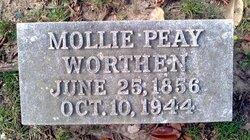 Mollie Crease <i>Peay</i> Worthen