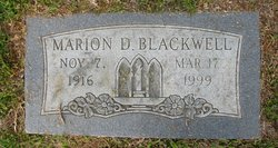Marion D. Blackwell