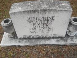 Josiephine <i>Weathers</i> Barr
