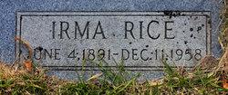 Irma <i>Rice</i> Mayer