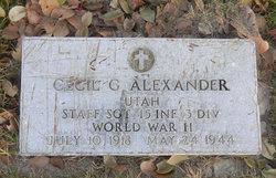 Cecil Gale Alexander