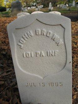 Pvt John W Brown