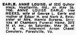 Anne Louise <i>Meeks</i> Earle
