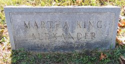 Martha <i>King</i> Alexander